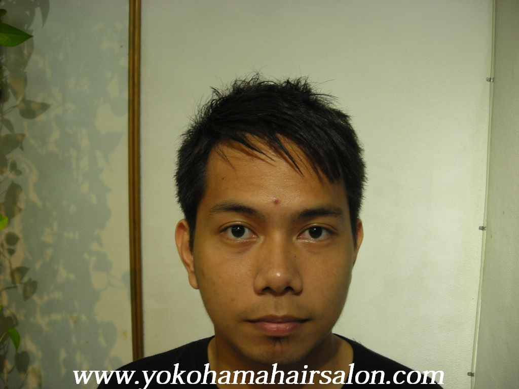 James Gets Short Spiky Hair And Japanese Straightening English Speaking Hair Stylist Haircuts Perm Color Yokohama Japan